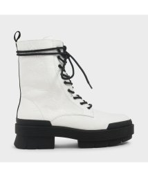 CHARLES & KEITH/【2020 FALL 新作】レースアップ ハイキングブーツ / Lace Up Hiking Boots  (White)/503488851