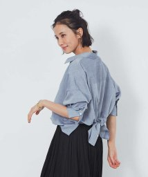 abahouse mavie/【新色追加】【2WAY】スキッパーバックデザインシャツ/503490506
