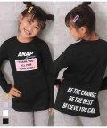 ANAP KIDS/ボックスデザインプリントチュニック/503492383