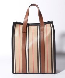 BURBERRY/【BURBERRY】ストライプトートバッグ/LL SM NS BOOK TOTE/ARCHIVE BEIGE/503450050
