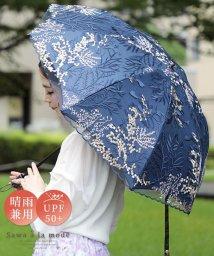 Sawa a la mode/刺繍レースの晴雨兼用折りたたみ日傘/503493112