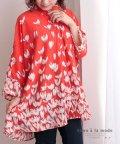Sawa a la mode/花模様のビッグシャツブラウス/503493128