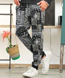 LUXSTYLE/総柄プリントジョガーパンツ/ジョガーパンツ メンズ 総柄 プリント ペイズリー スウェットパンツ/503493776