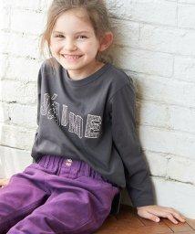 ROPE' PICNIC KIDS/【ROPE' PICNIC KIDS】ロゴ&メッセージプリントロングTシャツ/503494406
