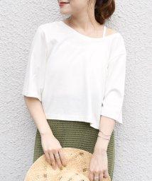 SHIPS WOMEN/【汗染み防止】マルチwayトップス Tシャツ×キャミソール/503494629