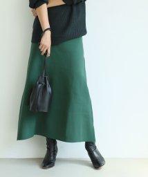 coca/Aラインフレアニットスカート/503206185