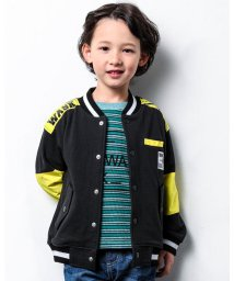 WASK/マルチ ボーダー ワッフル プリント ロゴ 長袖 Tシャツ (140cm~160/503499629