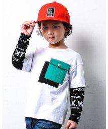 WASK/レイヤード フウ ポケット ツキ ワイド 長袖 Tシャツ (140cm~160c/503499632