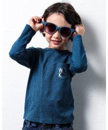 WASK/ポケット ツキ サル バックロゴ パパ と お揃い カラー Tシャツ (140c/503499635