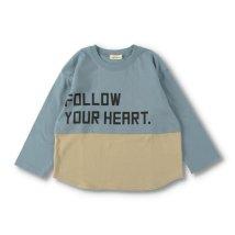 branshes/配色切替え長袖Tシャツ/503500085