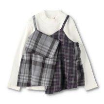 branshes/チェックキャミドッキング長袖Tシャツ/503500088