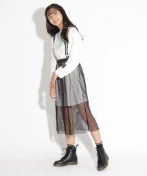 PINK-latte/ビックTワンピ&メッシュスカートセット/503502746