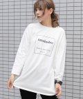 ad thie/裾ラウンドプリントロングTシャツ ラウンド Tシャツ ロゴ ロンT 秋冬 新作 カットソー プリント ロング レディース 裾ラウンド/503503279