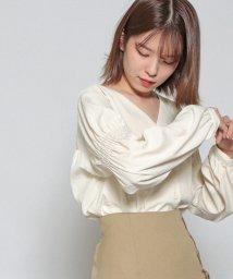 Cheek/袖シャーリングブラウス/503435751