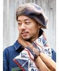 CAYHANE/【チャイハネ】チェック柄パッチワークベレー帽 JTYP0305/503506618