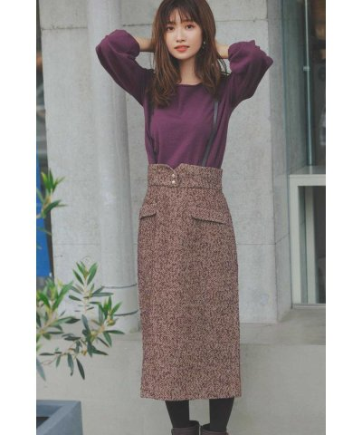 PROPORTION BODY DRESSING/サスペンダー付ツイードタイトジャンパースカート/503508407