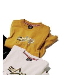 GRAND-BACK/【大きいサイズ】アルファ・インダストリーズ/Alpha INdustries プリント長袖Tシャツ/503509642