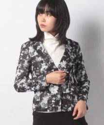 LAPINE BLANCHE/【洗える】チュールぼかし花柄プリントジャケット/503505726