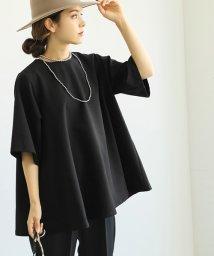 coca/ハリ感Aライン5分袖カットソー/503511932