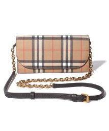 BURBERRY/【BURBERRY】BURBERRY Vintage Check&Leather Wallet with Chain ショルダーウォレット 4073220/503485925