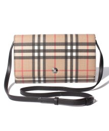BURBERRY/【BURBERRY】BURBERRY Vintage Check E Canvas Wallet with Detachable Strap ショルダーウォレッ/503485926