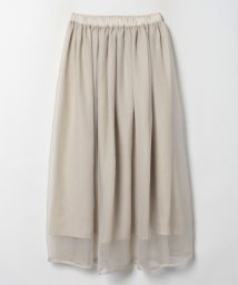 LANVIN en Bleu/シフォン×オーガンジー 2wayスカート/503511997