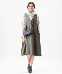 CARA O CRUZ/異素材MIXジャンパースカート/503515725