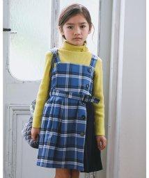 BeBe/ベルト 付き  テジン プリーツ チェック キリカエ ジャンパースカート (90/503516268