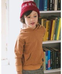 BeBe/オーバーサイズ ハイゲージ ウラゲ フード 刺繍 パーカー (100cm~150/503516276