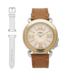 FENDI/FENDI 腕時計 レディース フェンディ F8011345H0 SSN18R02S ホワイトパール ゴールド ブラウン/503520417