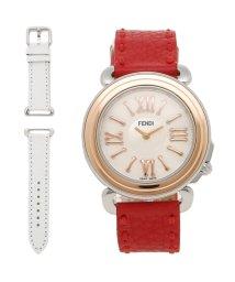 FENDI/FENDI 腕時計 レディース フェンディ F8012345H0 SSN18RB7S ホワイトパール ローズゴールド レッド/503520419