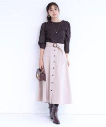 JUSGLITTY/ベルト付きカラースカート/503522361