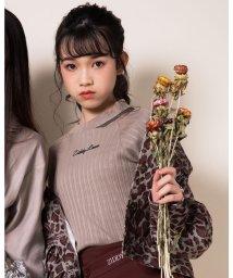 ZIDDY/【ニコプチ掲載】肩 チュール 切り替え Tシャツ(130cm~160cm)/503499565
