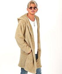 LUXSTYLE/ボアコーディガン/ボア カーディガン コーディガン メンズ ショール 秋冬 BITTER ビター系/503526325