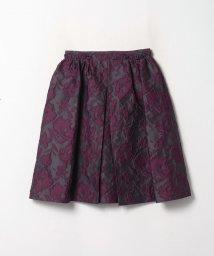 LANVIN en Bleu/フラワージャガードミディスカート/503511975