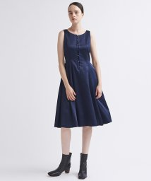 LANVIN en Bleu/ノースリーブミディ丈ワンピース/503511989