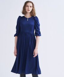 LANVIN en Bleu/サテンスムースワンピース/503511993