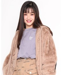 ZIDDY/レシート風 サテン パッチ ルーズ Tシャツ(130cm~160cm)/503534531