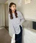 ad thie/オーバーサイズシンプルロングTシャツ/503535113