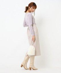 Couture Brooch/サスペンダー付スウェードライクタイトスカート/503535301
