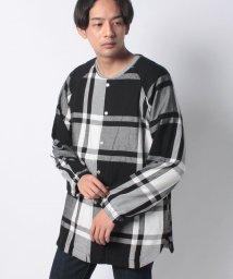 AOZORA BLUE HEAVEN/724002 AOヘビーチェックスナップシャツ/503453841