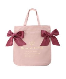 Maison de FLEUR/ダブルリボントートバッグ/503543489