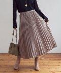 GROWINGRICH/[スカート]スウェードプリーツスカート[200717]/503544200
