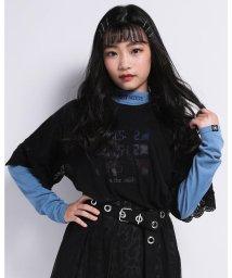ZIDDY/【ニコプチ掲載】ハイネック ロゴ 刺繍 Tシャツ(130cm~160cm)/503499566
