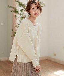ROPE'/【MAGASEEK/d fashion限定】タスマニアウールニット2WAYプルオーバー/503510110