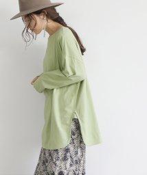 coca/サイドスリットロングTシャツ/503531985