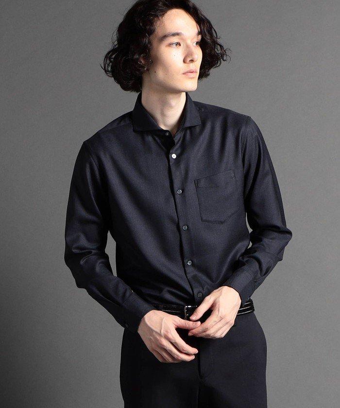 ムッシュニコル OXIJEWELカッタウェイカラーシャツ メンズ 67ネイビー 44(S) 【MONSIEUR NICOLE】