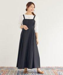 DOUX ARCHIVES /ツイード調合繊タックフレアージャンパースカート/503479295
