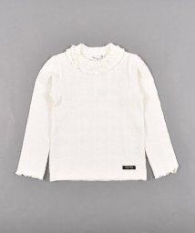 SLAP SLIP/襟フリル ケーブル ブランドロゴ ワッペン 長袖 Tシャツ (80cm~150c/503499600