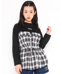 ZIDDY/チェックシャツ ドッキング ロゴTシャツ(130cm~160cm)/503534528